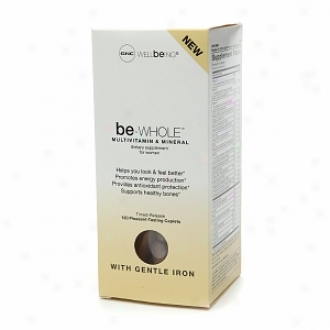 Gnc Wellbeing Be-whole Multivitamin & Mineral With Gentle Iron, Caplets