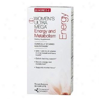 Gnc Women's Ultra Mega Energy & Metabolism Multivitamin, Timed-release Caplets