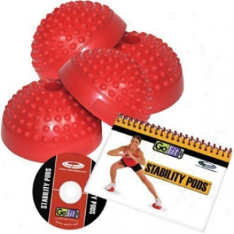 Gofit Stability Pods Set Of 4 With Training Dvd & Exercise Flibook