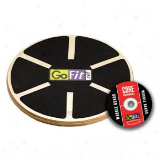 Gofit Ultimate Round Balance Board, Adjustable With Training Dvd 15