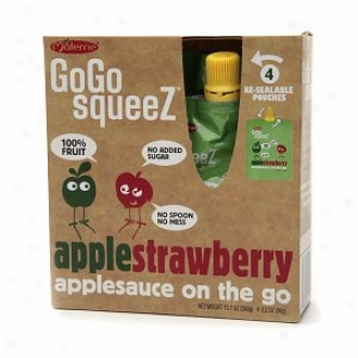 Gogo Squeez Pouches, Applesauce On The Go, Apple Strawberry