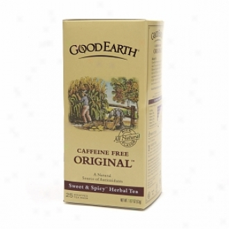 Good Earth Caffeine Free Original Herbal Tea, Sweet & Spicy