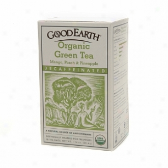 Good Earth Organic Decaffeinated Gree Tea, Mango, Peach & Pineapple