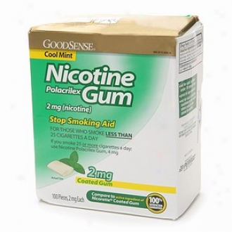 Good Sense Nicotine Polacrilex Coated Gum, 2mg, Cool Mint