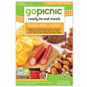 Gopicnic Ready-to-eat Meal (6 Boxes), Turkey Stick + Crunch