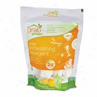Grabgreen Automatic Dishwashing Detergent Bag, 24 Loads, Tangerine With Lemongrass