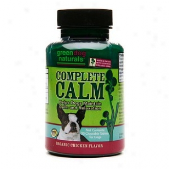 Green Dog Naturals Complete Calm Chewable Tablets, Organic Chicken