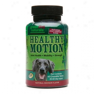Green Dog Naturaals Healthy Motion Chewable Tablets, Natural Chicken