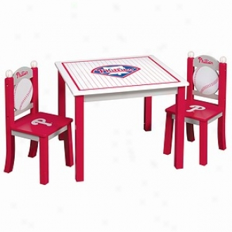Guidecraft Major League Baaseball - Phillies Table & Chairs Set