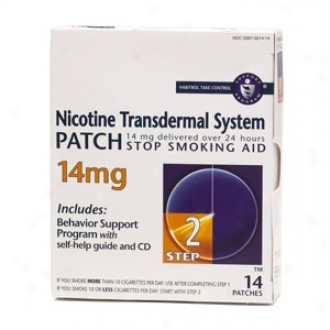 Habitrol Nicotine Transdermal System Step 2, 14mg Stop Smoking Aid