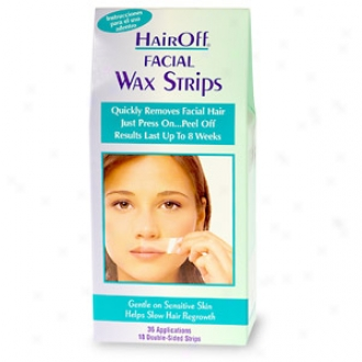 Hair Off Facial Wax Srrips