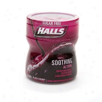 Halls Sugar Free Triple Soothing Action Drops, Black Cherry