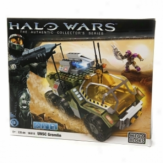 Halo Mega Bloks: Halo Wars -the Authentic Collector's Series, Unsc Gremlin, Ages 8+, 226 Pieces