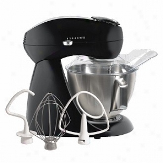 Hamilton Beach Eclectrics Licorice Black All-metal Stand Mixer Standard 63227