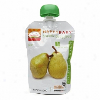 Happy Babby Organic Baby Food:  Stage 1 / Starting Solids, Pear