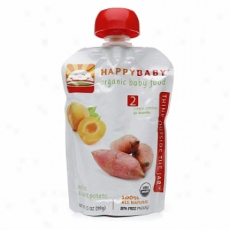 Happy Baby Organic Baby Food:  Stage 2 /  Simple Combos, 6+ Months, Apricot & Sweet Potato