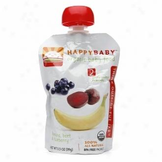 Joyous Baby Organix Baby Food:  Step 2 /  Simple Combos, 6+ Months, Banana, Beet & Blueberries