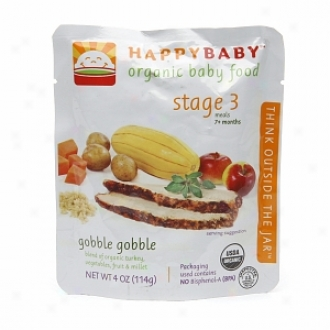 Happy Baby Organic Bay Food:  Stage 3 / Meals, 7+ Months, Gobble Gobble