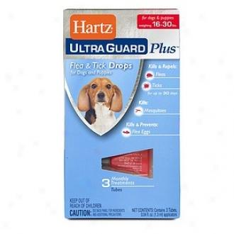 Hartz Ultra Guard Plus, Flea & Tick Drops, 16-30 Lbs
