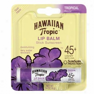 Hawaiian Tropic Moisturizing Lip Balm Sunscreen, Spf 45, Tropical