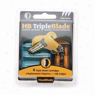 Headblade Tripleblade Ultimate Headcare Shaving System Cartridges