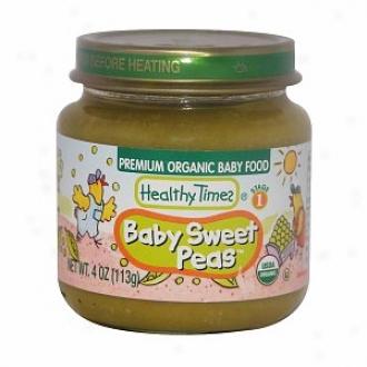 Healthy Times Premium Radical Baby Food, Baby Sweet Peas, Stage 1