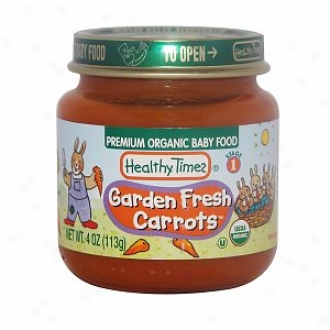Healthy Times Premium Organic Baby Food, Garden Fresh Carrots, Stage 1