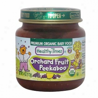 Healthy Times Premium Organic Baby Food, Orchard Offspring Peekaboo, Stage 2
