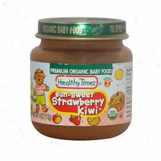 Healthy Times Prmium Organic Baby Food, Sunsweet Strawberry Kiwi, Platform 2