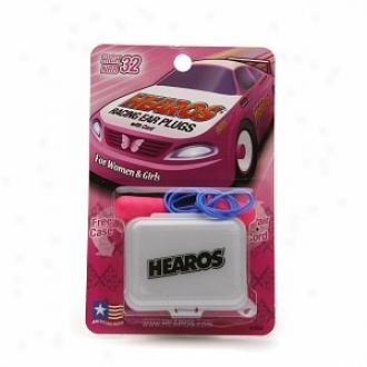 Hearos Racing Ear Plugs With Cord + Free Box For Women & Girls, Aloft Nrr 32