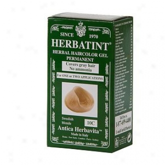 Herbatint Permanent Herbal Haircolor Gel, 10c-sweidsh Blonde