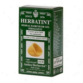 Herbatint Permanent Herbal Haircolor Gel, 10dr-light Copperish Gold