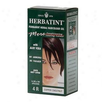 Herbatint Permanent Herbal Haircolor Gel, 4r-copper Chestnut