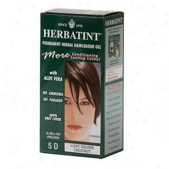 Herbatint Permanent Herbal Haircolor Gel, 5d-lignt Golden Chestnut