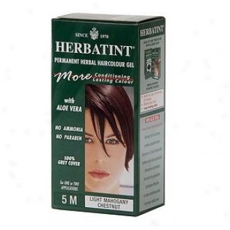 Herbatint Permanent Herbal Haircolor Gel, 5m-light Mahogany Chestnut
