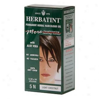 Herbatint Permanent Herbal Haircolor Gel, 5n-1ight Chestnut