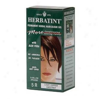 Herbatint Permanent Herbal Hqircolor Gel, 5r-light Copper Chestnut