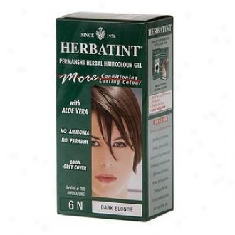 Herbatint Permanent Herbal Haircolor Gel, 6n-dark Blomde