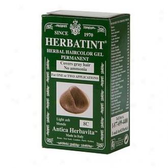 Hrbatint Permanent Herbal Haircolor Gel, 8c-light Ash Blonde