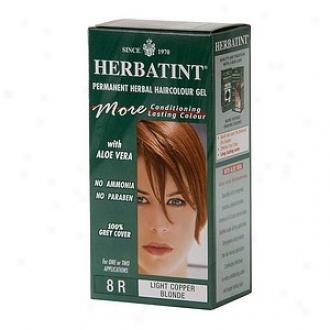 Herbatint Permanent Herbal Haircolor Gel, 8r-light Copper Blonde