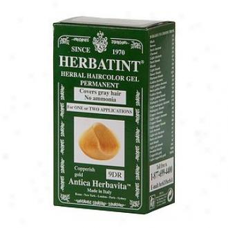 Herbatint Permanen Herbal Haircolro Gel, 9dr-copperish Gold