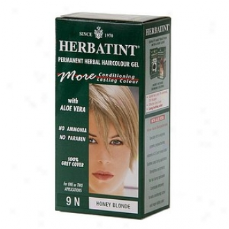 Herbatint Permanent Herbal Haircolor Gel, 9n-honey Blonde