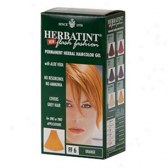 Herbatint Permanent Herbal Haircolor Gel, Flazh Fashion Orange
