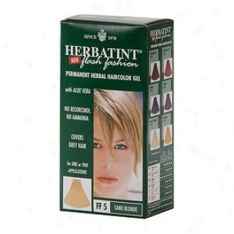 Herbatint Permanent Herbal Haircolor Gel ,Flash Fashion Sand Blonde