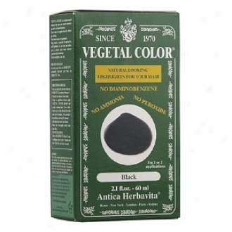 Herbatint Vegetal Semi-permanent Herbal Haircolor Gel, Black