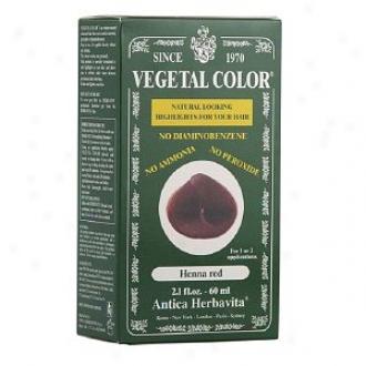 Herbatint Vegetal Semi-permanent Herbal Haircolor Gel, Henna Red