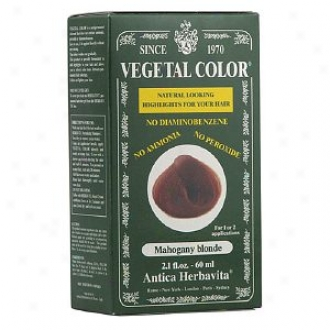 Herbatint Vegetal Semi-permanent Herbal Haircolor Gel, Mahogany Blonde
