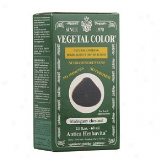 Herbatint Vegetal Semi-permanent Herbaal Haircolor Gel, Mahogany Chestnut