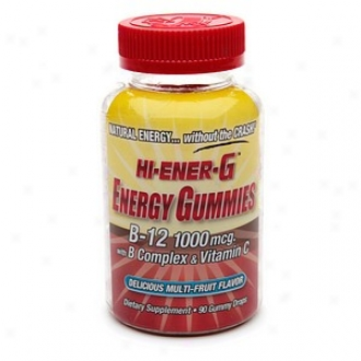 Hi-ener-g Ene5gy Gummies B-12 With B Complex & Vitamin C, Gummy Drops