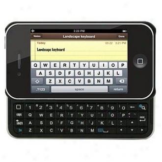 Hipstrdet Iphone 4g Bluetooth Keyboard Slider Case, Black